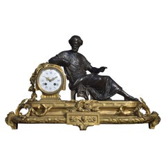 Late 19th Century French Gilt Metal Mantel Clock