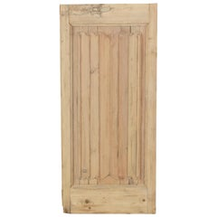 Late 19th Century French Gothic Style Pitch Pine Panel Double Faced, Linen Fold