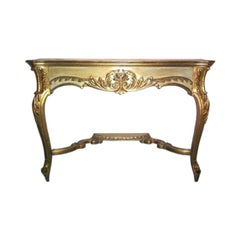 Late 19th Century French Hand Carved Console