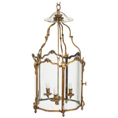 Late 19th Century French Hexagonal Ormolu Hanging Lantern