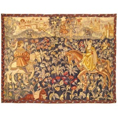 Late 19th Century French Hunting Tapestry