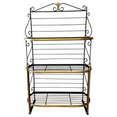 Late 19th Century French Iron and Brass Parisienne Boulangers Bread Rack
