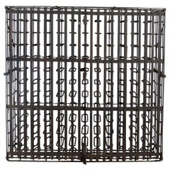 Late 19th Century French Iron Wine Cage