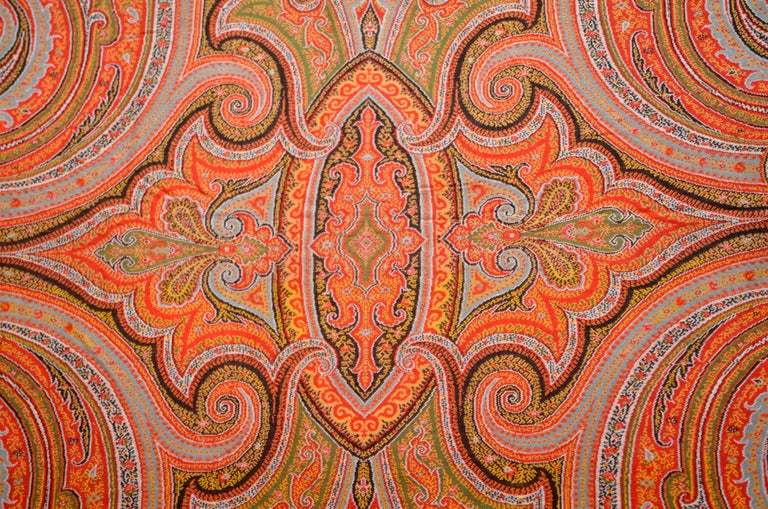 Napoleon III Late 19th Century French Kashmir Paisley Shawl For Sale