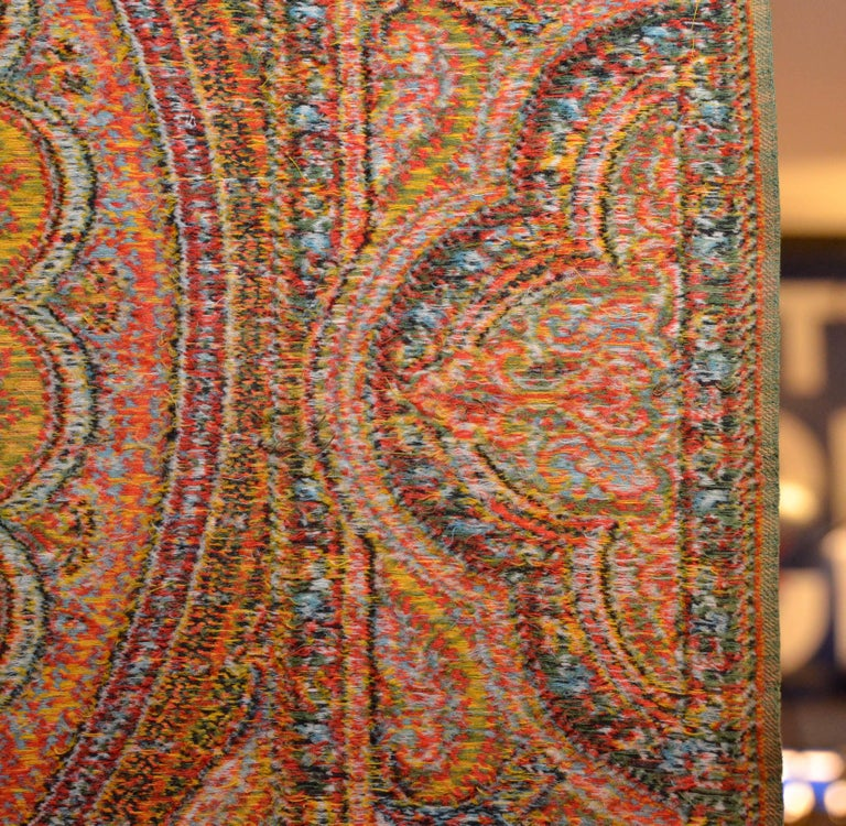 Late 19th Century French Kashmir Paisley Shawl In Good Condition For Sale In Milan, IT