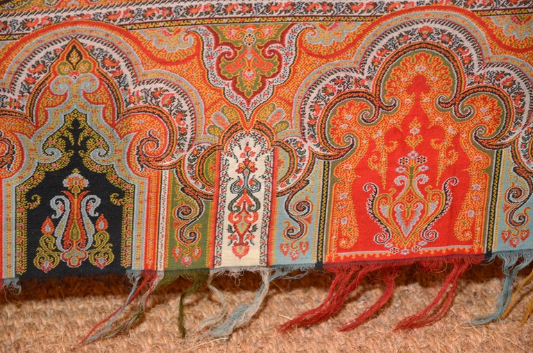 Late 19th Century French Kashmir Paisley Shawl For Sale 2
