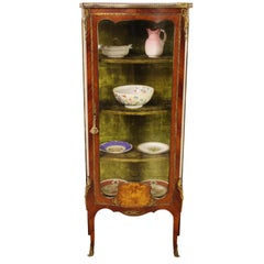 Late 19th Century French Kingwood and Marquetry Vitrine