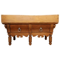 Late 19th Century French Louis Philippe Butcher Block Table