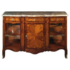 Late 19th Century French Louis XV Style Tulipwood and Kingwood Buffet