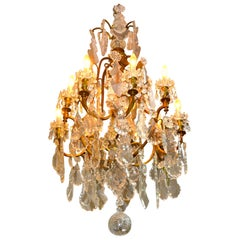 Late 19th Century French Louis XV Style Birdcage Chandelier