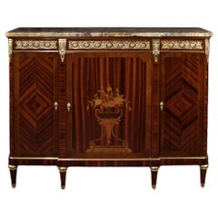 Late 19th Century French Louis XVI Style Three-Door Buffet