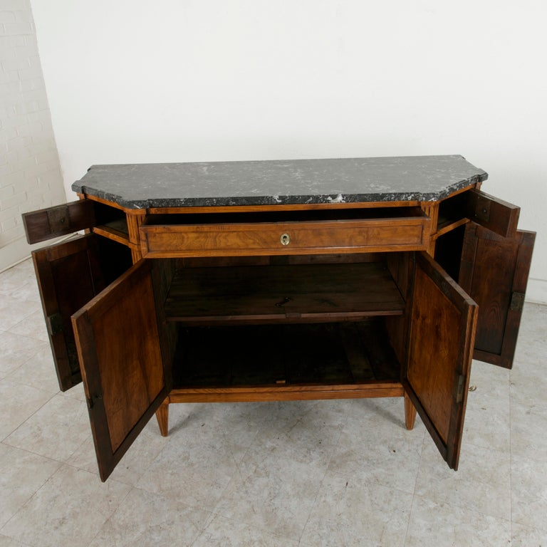 Late 19th Century French Louis XVI Style Ash Buffet or Sideboard, Marble Top For Sale 7