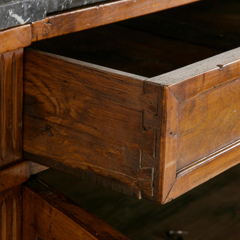 Late 19th Century French Louis XVI Style Ash Buffet or Sideboard, Marble Top For Sale 8