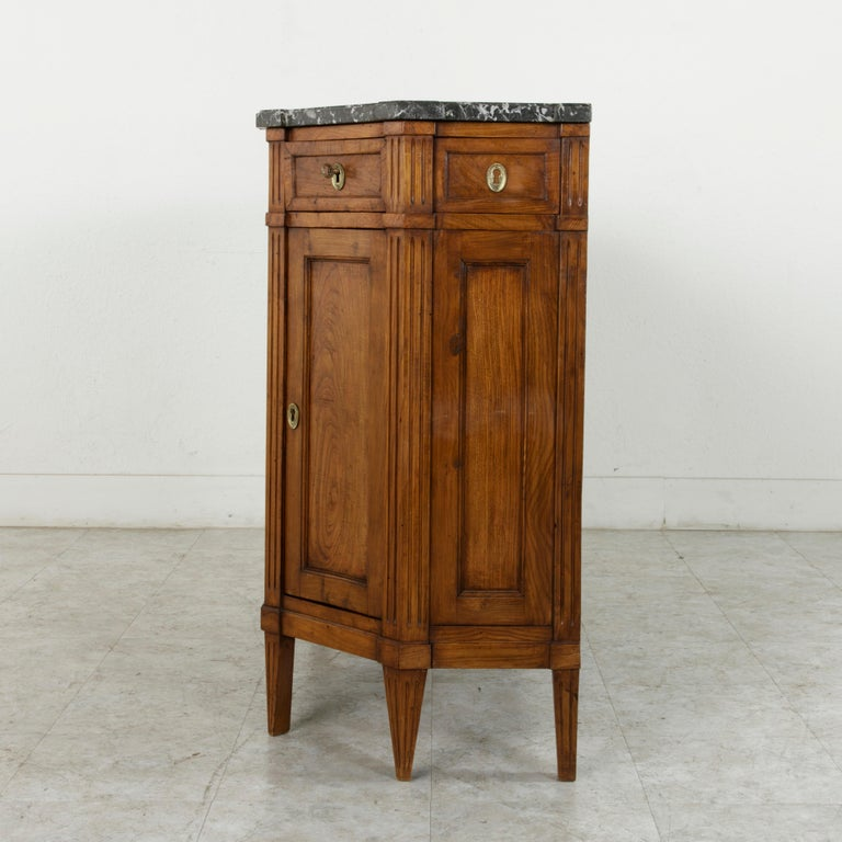 Late 19th Century French Louis XVI Style Ash Buffet or Sideboard, Marble Top For Sale 1