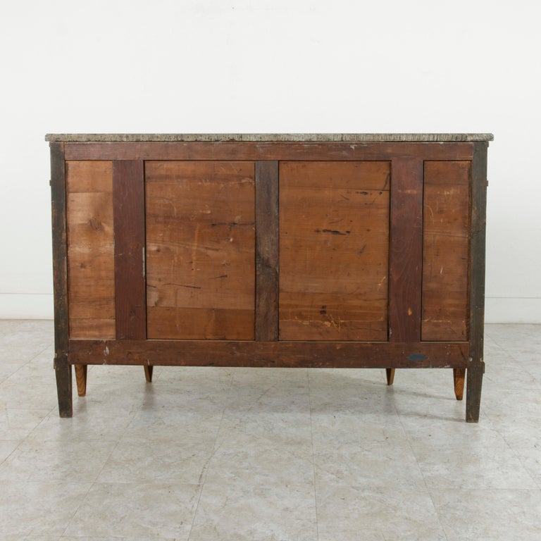 Late 19th Century French Louis XVI Style Ash Buffet or Sideboard, Marble Top For Sale 2