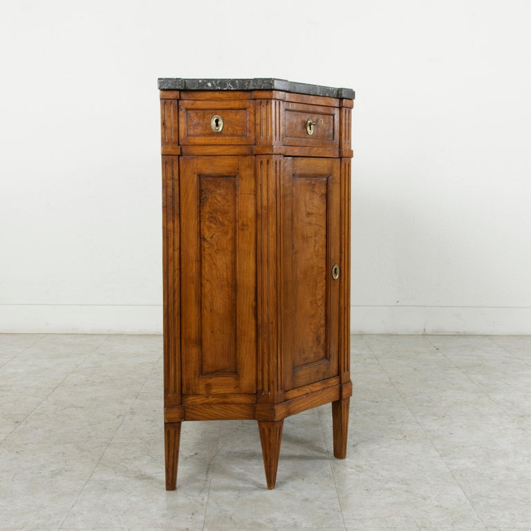 Late 19th Century French Louis XVI Style Ash Buffet or Sideboard, Marble Top For Sale 3