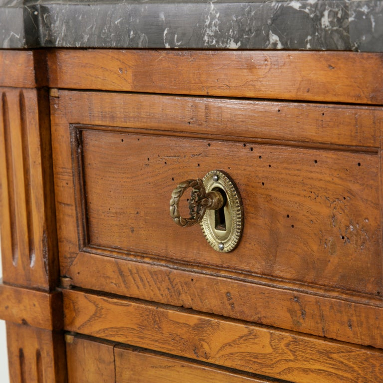 Late 19th Century French Louis XVI Style Ash Buffet or Sideboard, Marble Top For Sale 4