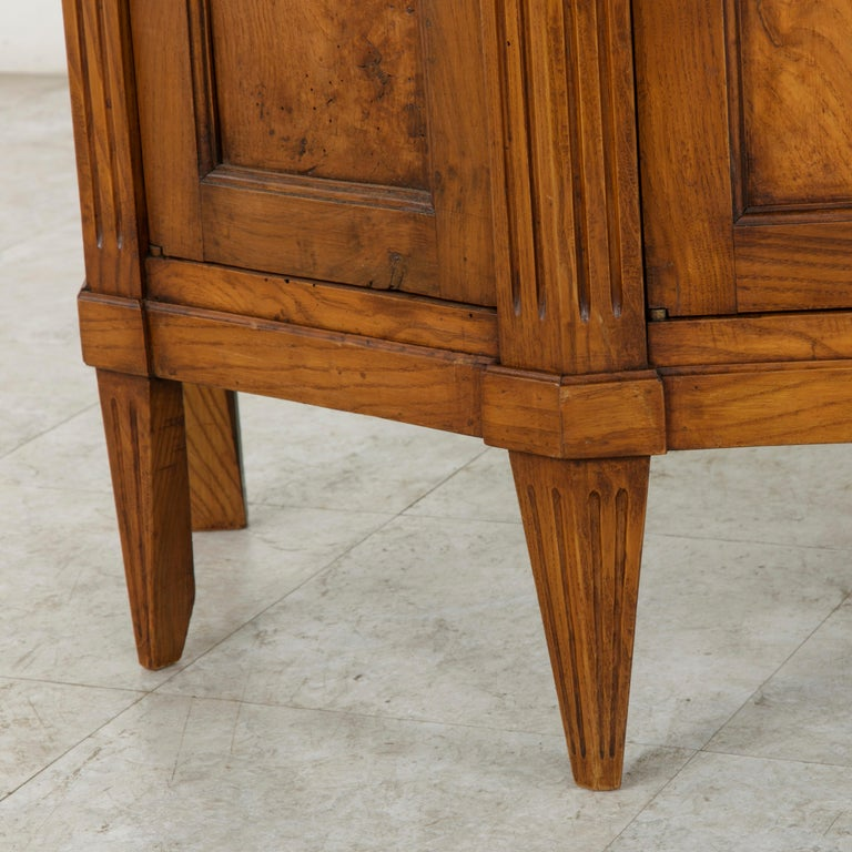 Late 19th Century French Louis XVI Style Ash Buffet or Sideboard, Marble Top For Sale 5