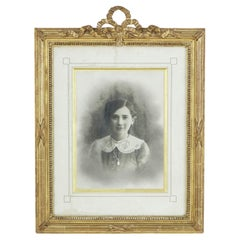 Late 19th Century French Louis XVI Style Frame with Photograph of Young Girl