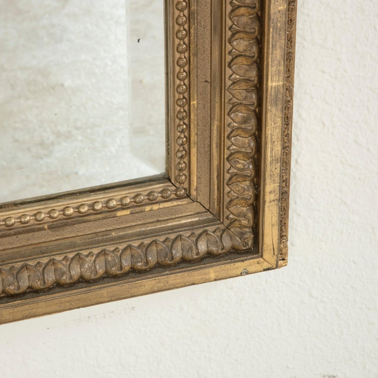 Late 19th Century French Louis XVI Style Gilt Wood Mirror with Wreath For Sale 8