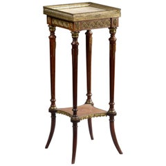 Late 19th Century French Mahogany Side Table with Onyx Top Plate