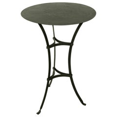 Late 19th Century French Metal Bistro Table, Gueridon, Side or Garden Table
