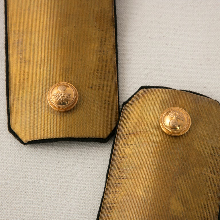 Late 19th Century French Napoleon III Period Military Epaulettes in Original Box For Sale 4