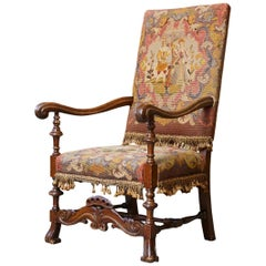 Late 19th Century French Needlepoint Fauteuil