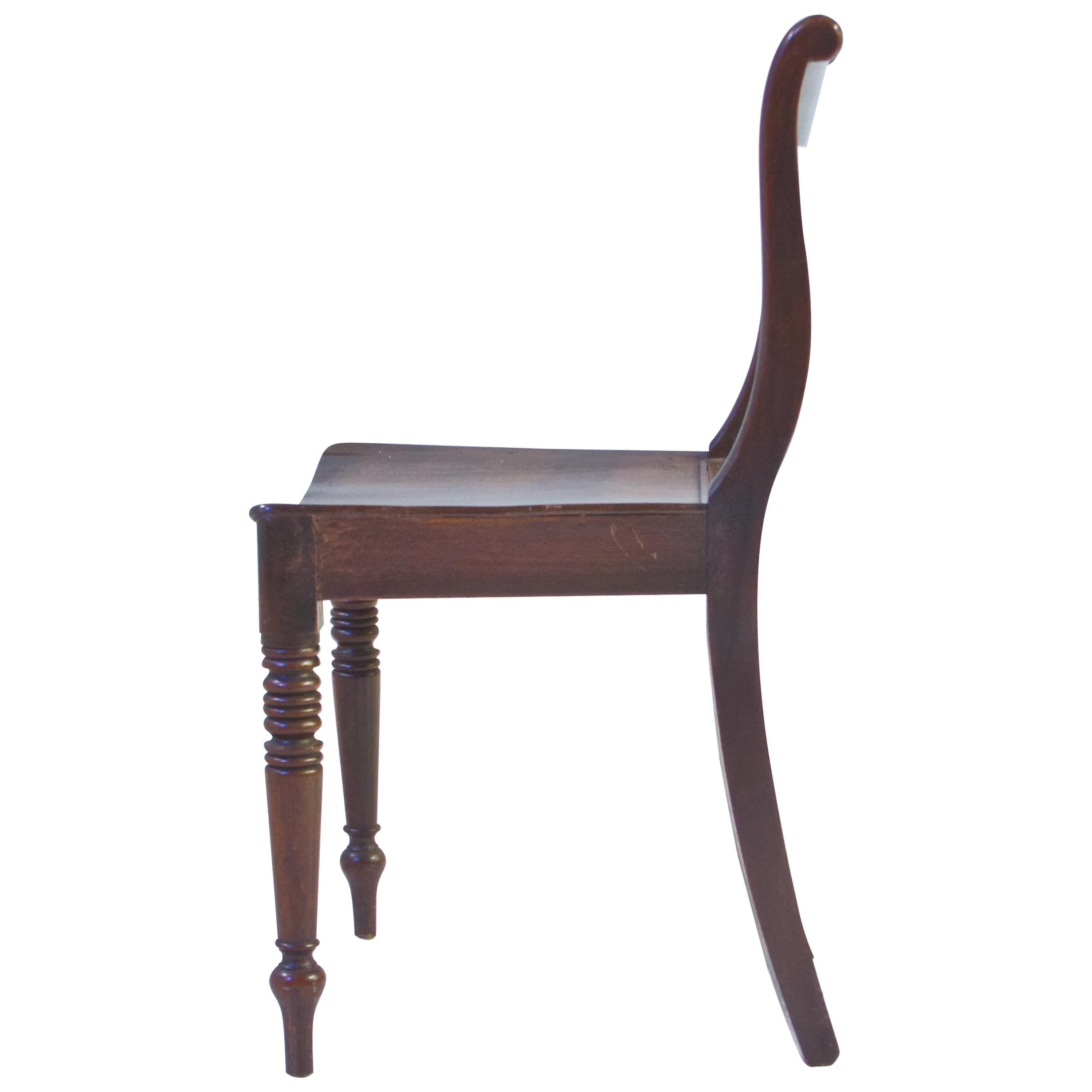 Late 19th Century French Neoclassical Desk Chair in Cuban Mahogany