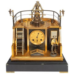 Late 19th Century French Novelty 'Quarterdeck' Mantel Clock by Guilmet, Paris