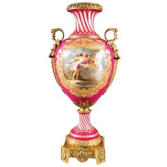 Late 19th Century French Ormolu-Mounted Sèvres-style Porcelain Urn