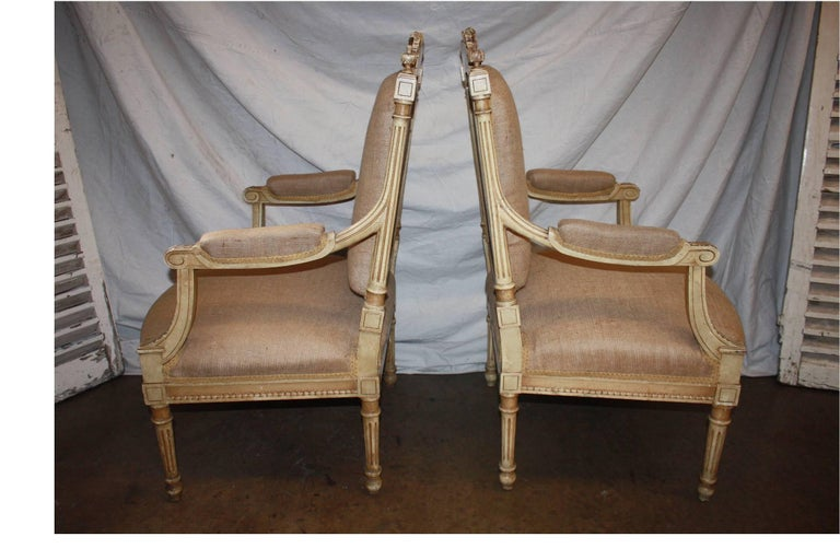Napoleon III Late 19th Century French Pair of Armchairs For Sale