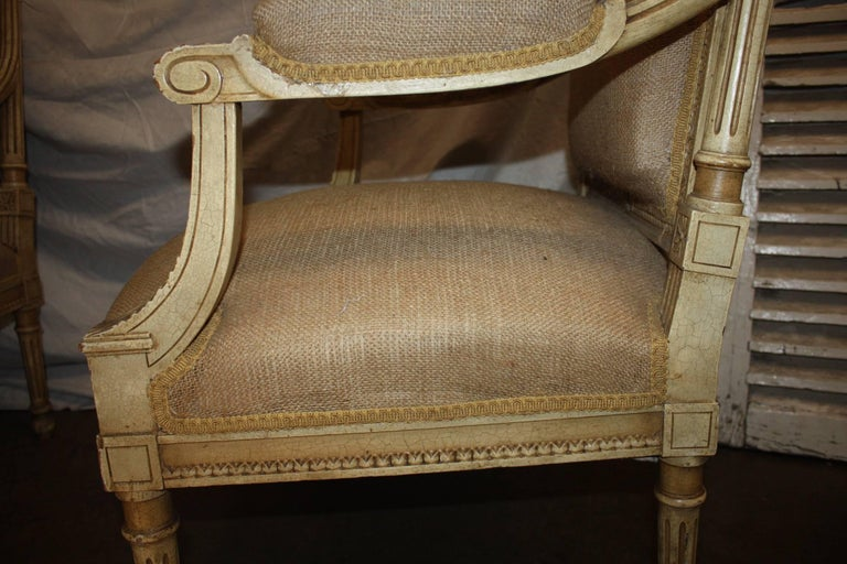 Late 19th Century French Pair of Armchairs For Sale 1