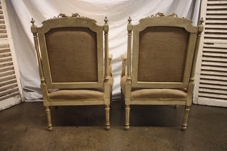 Late 19th Century French Pair of Armchairs For Sale 3