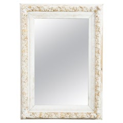 Late 19th Century French Provincial White and Gold Mirror