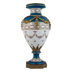 Late 19th Century French Sèvres-Style Ormolu-Mounted Porcelain Vase