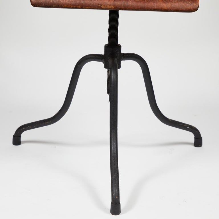 Iron Late 19th Century French Swivel Chair For Sale