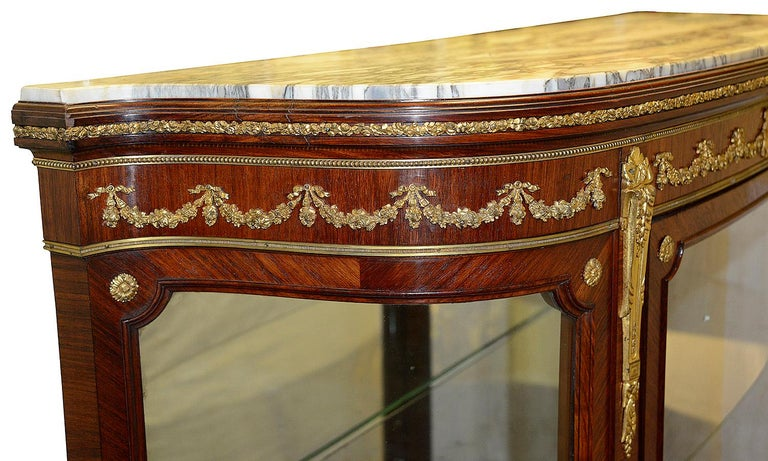 Louis XVI Late 19th Century French Vitrine by Francoise Linke For Sale
