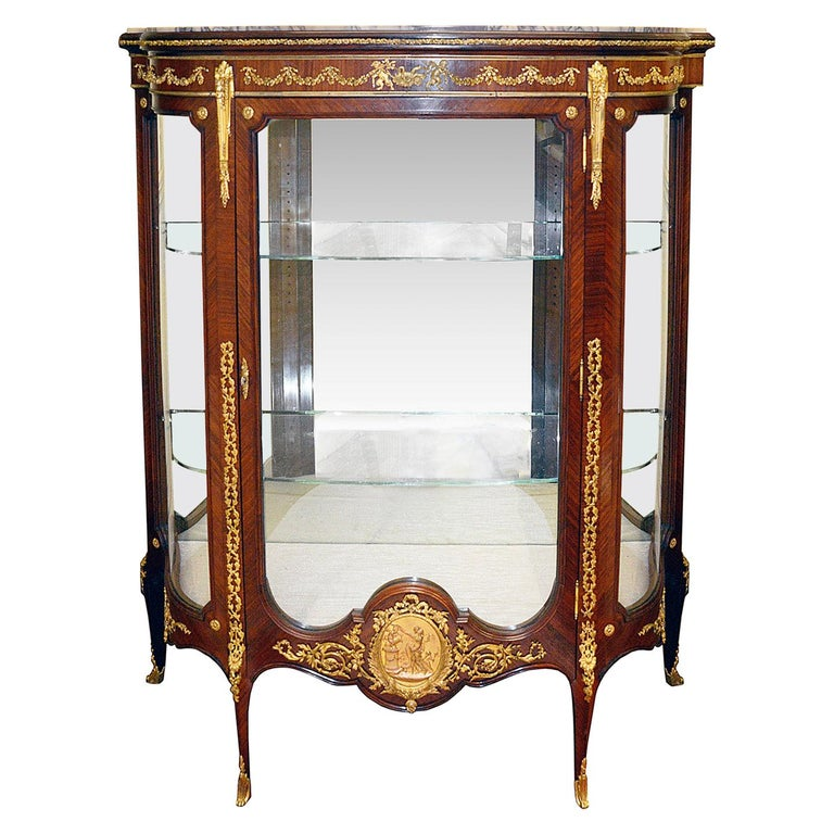 Late 19th Century French Vitrine by Francoise Linke For Sale