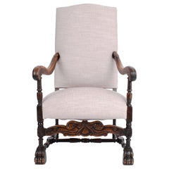 Late 19th Century French Wooden Armchair