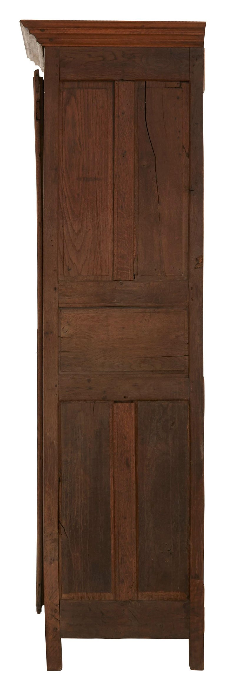 Late 19th Century French Wooden Wardrobe In Good Condition For Sale In Chicago, IL