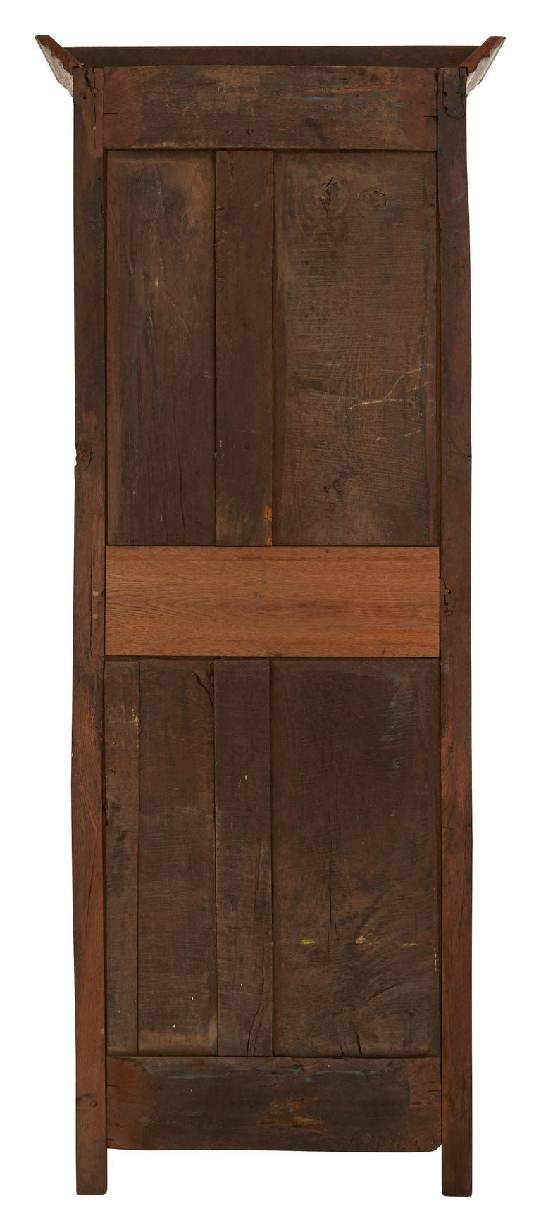 Brass Late 19th Century French Wooden Wardrobe For Sale