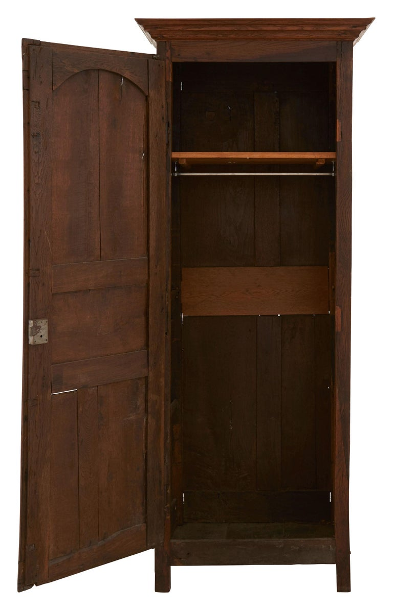 Late 19th Century French Wooden Wardrobe For Sale 1