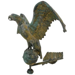Late 19th Century Full Body Eagle Weather Vane Fragment