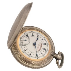 Late 19th Century Full Hunter Silver Made for the Turkish Market Pocket Watch