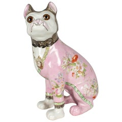 Late 19th Century Galle Faience Dog