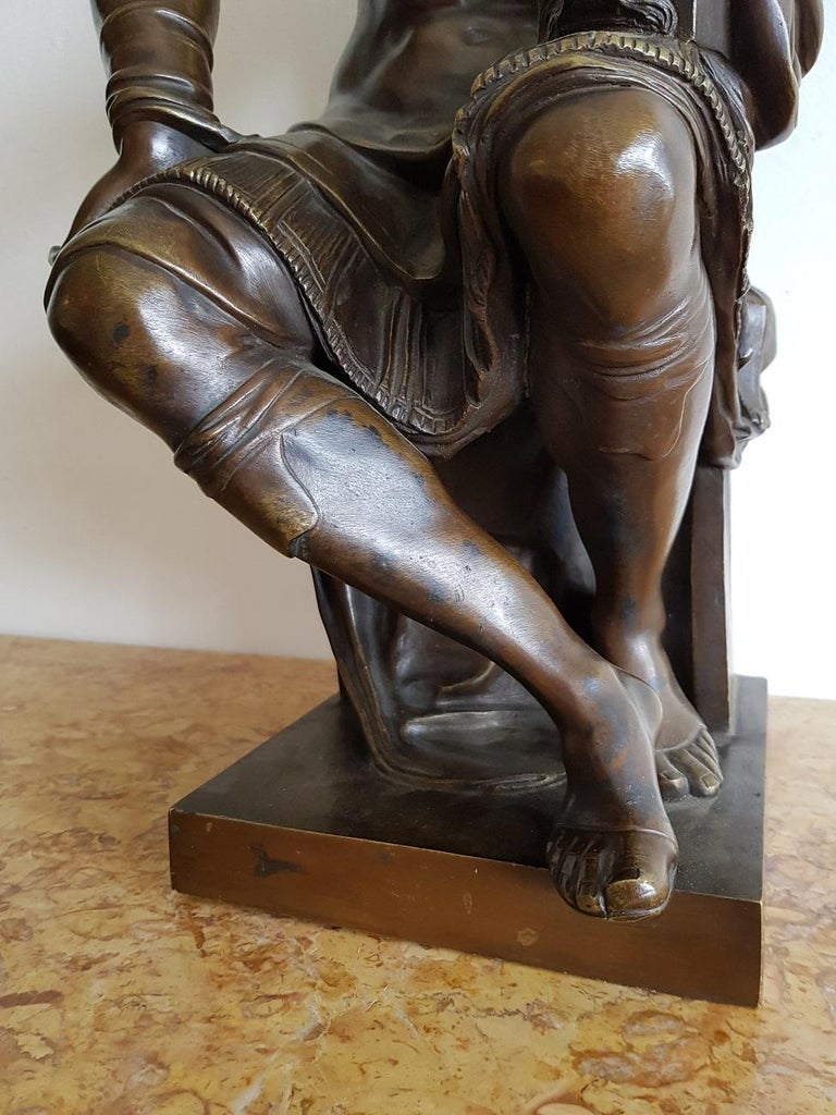 Late 19th Century German Bronze Statue of Lorenzo de Medici after Michelangelo For Sale 1