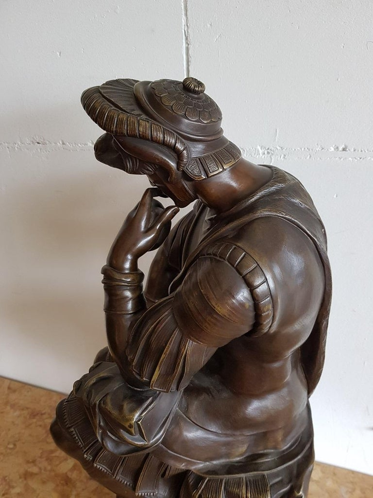 Late 19th Century German Bronze Statue of Lorenzo de Medici after Michelangelo For Sale 3