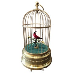 Late 19th Century German Signing Bird Automaton