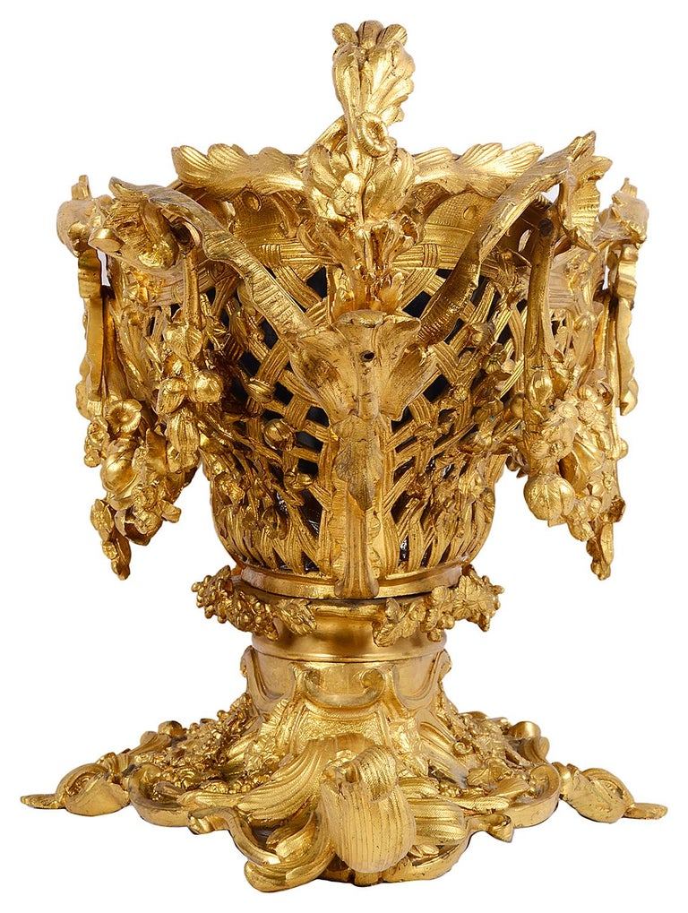 French Late 19th Century Gilded Ormolu Centre Piece For Sale